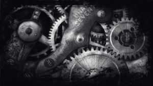 Ubuntu Grungy Gears Wallpaper. by Jengo33