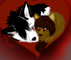 Wolf Couple Commission~ by Briggieh