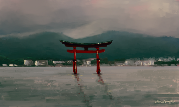 Itsukushima shrine by MarZu