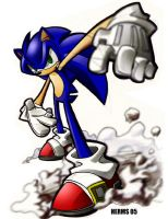 Sonic The Markers-RePhotoshop by herms85