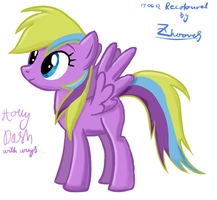 Holly Dash with wings (Rainbow Dash recolour) by Zhooves