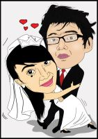 wedding karikature by Bungatyas