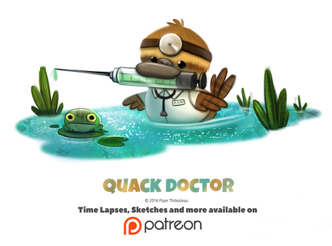 Day 1385. Quack Doctor by Cryptid-Creations