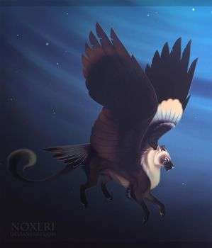 Winged Lion by Noxeri