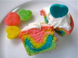 Easter Rainbow Cupcakes by missmustache