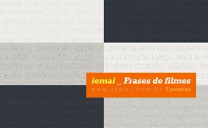 Patterns: Movies Quotes - Frases de filmes by iemai