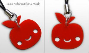 Red Apple Phone Strap by Cute-Creations