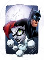 Harley Quinn and Batman by AlonsoEspinoza