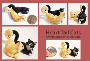 Heart Tail Cats - Commission by Bittythings