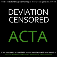 STOP ACTA - KEEP THE INTERNET FREE! by illdeletethisaccount