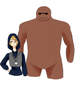 me and my personal golem by Megacas