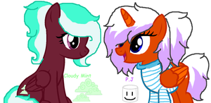 Cloudy Mint and P.J by MintyMagic74