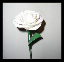 Duct Tape- White Rose by DuckTapeBandit
