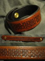 GoldBracletAll by BlindspiritLeather