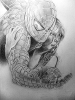 Spiderman 2 Film Poster Drawing by JordanWindows2