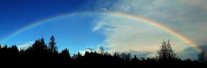 Cumberland Rainbow, British Columbia Canada by QUANTUM-ILLUSION