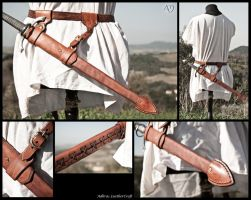Scabbard for Bolognese Dagger by Adhras