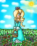 rosalina flowers by ninpeachlover