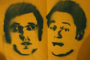 tim and eric stencil by lemaddy