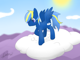 :CM: Cloud Smasher in the Clouds by furriKira