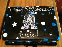 R2-D2 Cake by Spudnuts