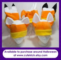 Candy Corn Animal Hats by cutekick