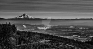 Mt Hood Over The River by Walden-Photography