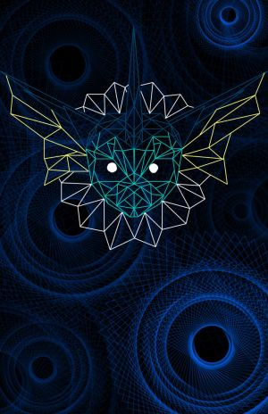 Geometric Vaporeon by BlackFalconWhiteWolf