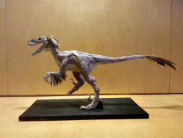 Velociraptor  Sculpture by CasSea64