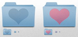Mac OS X Folder - Heart by ekliptikz