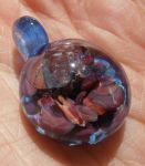 Coral reef glass pendant by fairyfrog
