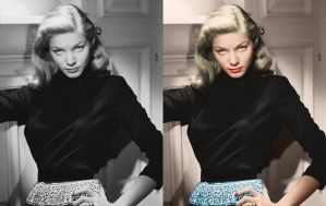Lauren Bacall - before after by B-D-I