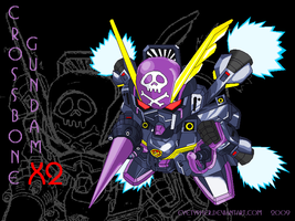 SD Crossbone Gundam X2 by eyetypher