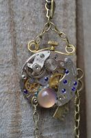 Reversable Steampunk pendant by MonstersInThewall