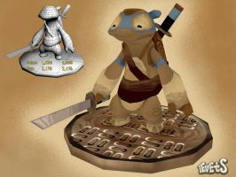 TMNT Leonardo 3D by iEvEtS ( Design by ReevolveR) by iEvEtS