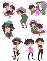 Commissions: Once-ler Askblog Stickers by Doctor-Ita