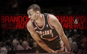 Brandon Roy Retires Wallpaper by IshaanMishra