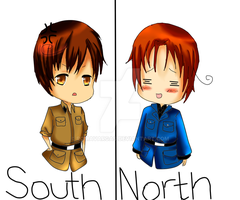 South and North Italy Chibis by RomaVargas