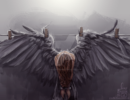 Fallen Angel by IntoTheFrisson