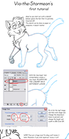 Tutorial - lineart + coloring by vio-the-stormeon