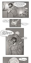 Fenhawke Comic based on Lyrium's Hold by DanjiDoodle