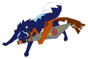 Name your price sword wolf adoptable by Lizzara