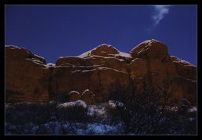 Bushes, Rocks and Starry Skies by powowcow