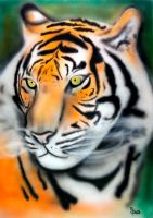 Tiger airbrush by dx