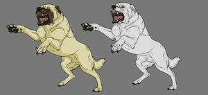 Kangal Dog Lineart. Shaded + Solid by WhiteWolfCrisis13