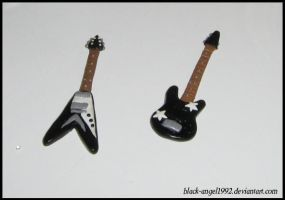 Fimo Guitar by black-angel1992