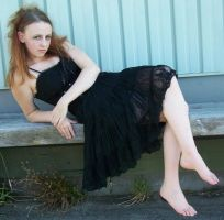 Black Dress Sitting 04 by Gracies-Stock