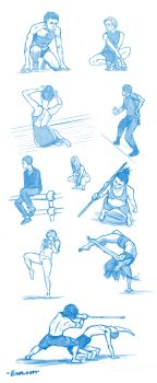 Pose sketches 4 by Exploom