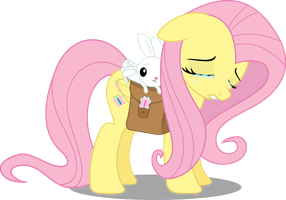 fluttershy sad by matty4z