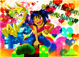 GIFT: Happy B-day Hippie-Sammy by sanada-number09